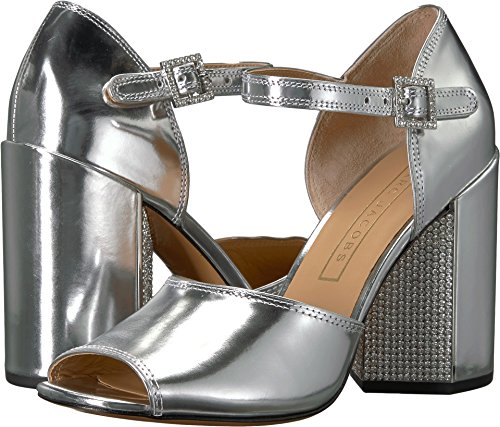 Marc Jacobs Women's Kasia Strass Heeled Sandal, Silver, 40 M EU (10 US)