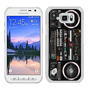 Hot Sale S6 Active Case,Boombox Ghetto Blaster White Samsung Galaxy S6 Actve Screen Phone Case Nice and Luxury Design