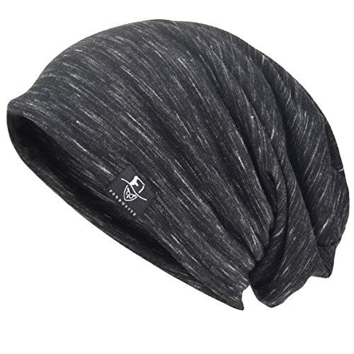 - VECRY Men Slouch Hollow Beanie Thin Summer Cap Skullcap (Multi-Black)