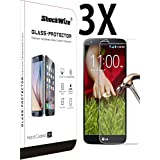 LG Stylo 2 Plus Ballistic Screen Protector ShockWize [3 Pack] [Tempered Glass] .3mm Thin Premium Real Glass Screen Protector LG Stylo 2 Plus MS550