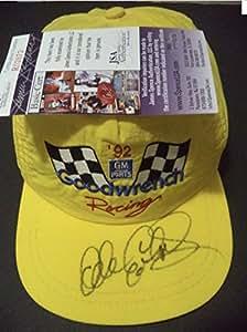 DALE EARNHARDT SR #3 NASCAR AUTOGRAPHED YELLOW RACE SNAPBACK HAT w/ JSA COA