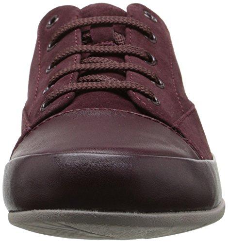Clarks Camión Gracia Piso Burgundy Suede/Leather