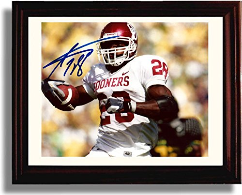 Framed Adrian Peterson Oklahoma Sooners Autograph Replica Print