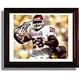 Framed Adrian Peterson Oklahoma Sooners Autograph Replica Print