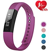 Fitness Tracker HR, Letscom Activity Tracker with Step...