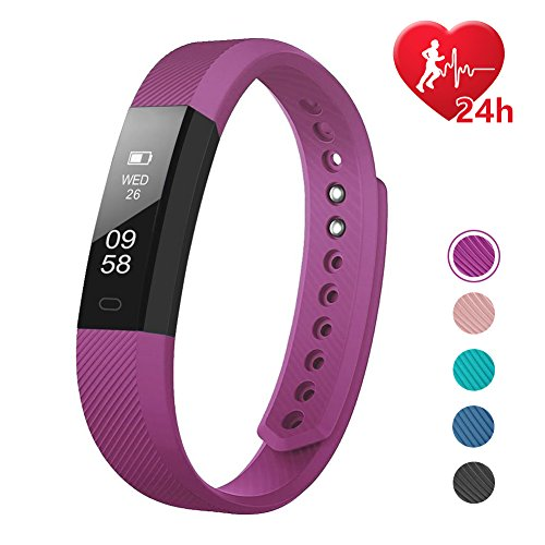 Fitness Tracker, LETSCOM Fitness Tracker Watch with Heart Rate Monitor, Slim Touch...