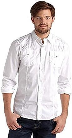 Camisa con bordado para Hombre de John Devin - algodón, blanco, 100% algodón 100% algodón. \n\t\t\t\t, hombre, XS: Amazon.es: Ropa y accesorios