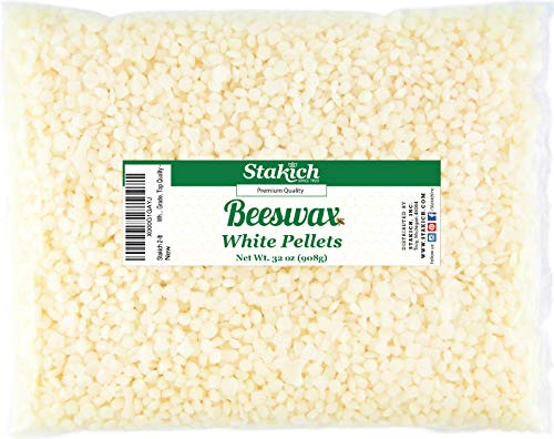 Stakich White Beeswax Pellets - Natural, Cosmetic Grade, Premium Quality - 2 lb (in 1 lb Bags)