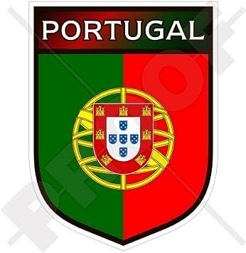 """PORTUGAL Portugués Escudo 100mm (4"""") Pegatina de Vinilo Adhesivo, Sticker, Calcomania"""