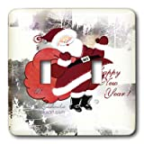 3dRose LLC lsp_4652_2  Happy Santa Double Toggle Switch
