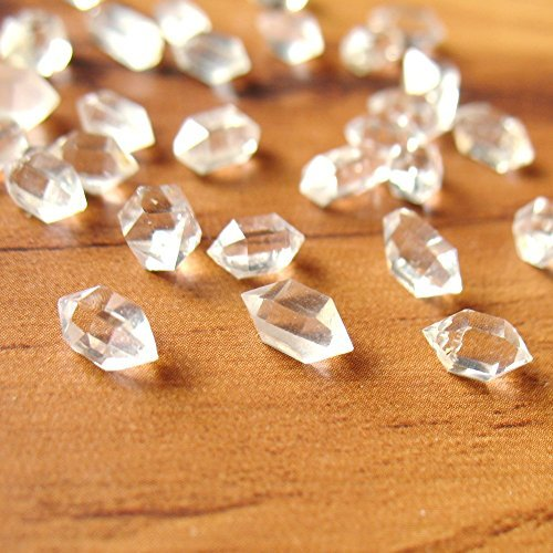 Natural Herkimer Diamond Quartz Crystal 5mm to 10mm Water Clear Undrilled - 10 Pcs Random Selection