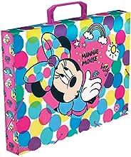 Maleta em PP Ofício Minnie Mouse, Minnie, Maleta em PP Ofício Minnie Mouse 2841, Colorido