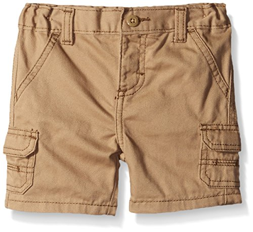 Toddler Boys Cargo Shorts Khaki (Wrangler Authentics Baby Infant Cargo Short, New Khaki, 18 Months)
