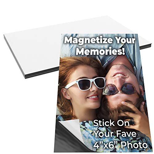 Magnetize Memories with 4x6 in Adhesive Photo Magnets 10pk. Peel-and-Stick Magnetizers Turn School Crafts, Family Pictures or Kids Art Into Durable, Flexible Gifts. Custom Sheets for Fridge or -