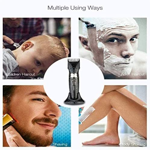 Electric Clippers Waterproof Rechargeable Optional Hair Length Adjustable Shaving Trimmer Children Adults Hair Clipper  02w4V