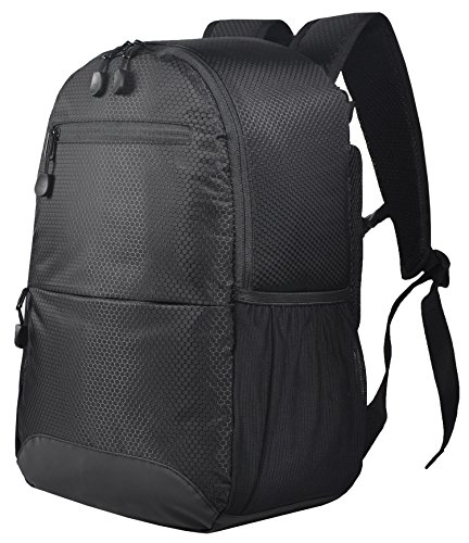 Price comparison product image MIER Cooler Backpack for Men Women Insulated Lunch Bag for Camping, Hiking, Picnics, Work, Travel, Beach, Sports, 20Can, Black