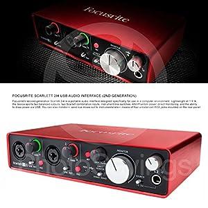 Focusrite Scarlett 2i4 USB Audio Interface (2...