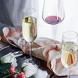 Crystal Champagne Flutes Glasses Set of 4 - Machine