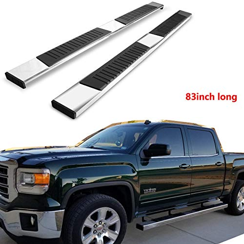"""Mifeier 83""""Long Nerf Bars Side Steps Running Boards Fit 01-18 Chevy Silverado/GMC Sierra 1500 2500HD Crew Cab With 4 Full Size Doors(Exclude Z71 or Diesel)"""