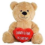 Toys : Hollabears Shawty U Fine Teddy Bear - Funny and Cute VDay Gift for Girlfriend, Boyfriend, Valentines or Best Friends