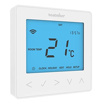 Heatmiser blanco NeoStat-E 230 V termostato programable para bajo eléctrico de calefacción de piso