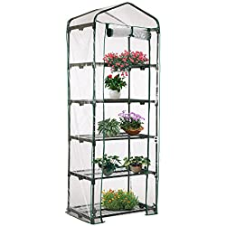 Shengruhua 5 Tier PVC Plant Greenhouse Cover - Herb and Flower Garden Green House Replacement Accessories (Just Cover, Without Iron Stand, Flowerpot)