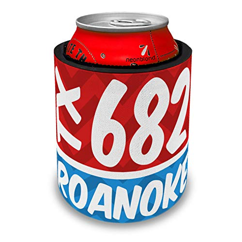 NEONBLOND 682 Roanoke, TX red/blue Slap Can Cooler Insulator Sleeve