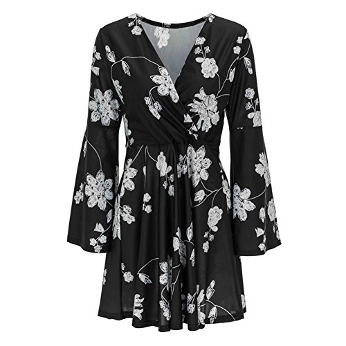 Floral Jersey Wrap Dress - 5