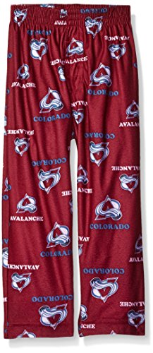 OuterStuff NHL Colorado Avalanche Toddler Boys Sleepwear All Over Print Pants, Size 2T, Burgundy (Avalanche Hockey Pants)