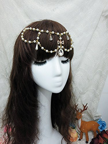 Quantity 1x Custom_ Crown Tiara Party Wedding Headband Women Bridal Princess Birthday Girl Gift Princess _Anne,_wave_knight_b-k_ with _gorgeousversatile_ Decorative bead chain small - Bridal Knight