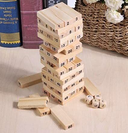 Amazon Taka Co Wooden Stacker Wood Building Wooden Tower Blocks Enchanting Homemade Wooden Board Games