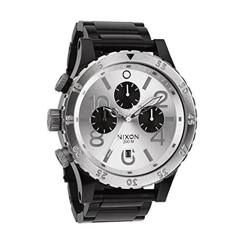 Nixon 48-20 Chrono Watch : Black / Silver
