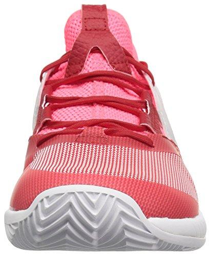 adidas Women's Adizero Defiant Bounce Tennis Shoe Flash red/White/Scarlet 6 M US by adidas (Image #4)