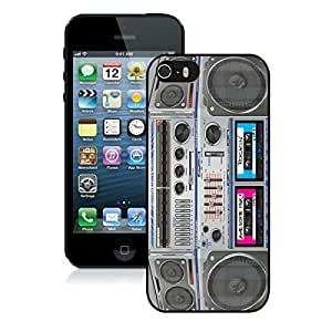 Amazing Top Apple Iphone 5s Case Retro Boombox Black Cell Phone Cover Accessories for Iphone 5