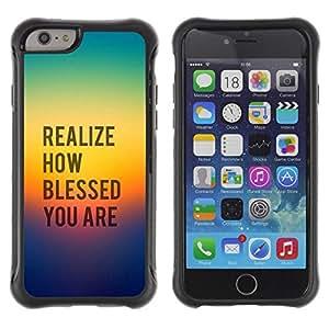 Suave TPU GEL Carcasa Funda Silicona Blando Estuche Caso de protección (para) Apple Iphone 6 / CECELL Phone case / / BIBLE Realize How Blessed You Are /