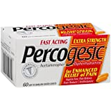 Percogesic Aspirin-Free Pain Reliever/Fever Reducer, Extra Strength, Easy to Swallow Coated Caplets, 60 coated caplets