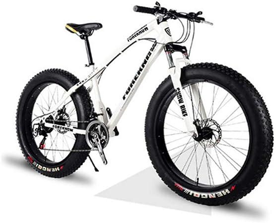 DPFXNN 26 Pulgadas, 27 velocidades, Todoterreno, Bicicleta de montaña, Marco de Aluminio, Snow Beach 4.0, neumáticos de Bicicleta de Gran tamaño, vehículos Todoterreno para Hombres y Mujeres: Amazon.es: Hogar