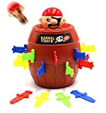 SPADORIVE Pirate Fun Barrel Group Game Tricky Toy Jump Up Game Stab with Breathtaking Curious and Interesting with Punishment Turntable