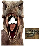 Tyrannosaurus Rex Jurassic World Dinosaur Stand-in Lifesize Cardboard Cutout Fan Pack, 188cm x 93cm Includes 8x10 Star Photo