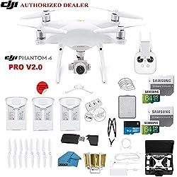 DJI Phantom 4 PRO V2.0 Quadcopter Drone with 1-inch 20MP 4K Camera KIT + 3 Total DJI Batteries