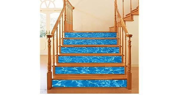 Agua de mar 3D piscina escalera pegatinas impermeable Wallpaper ...