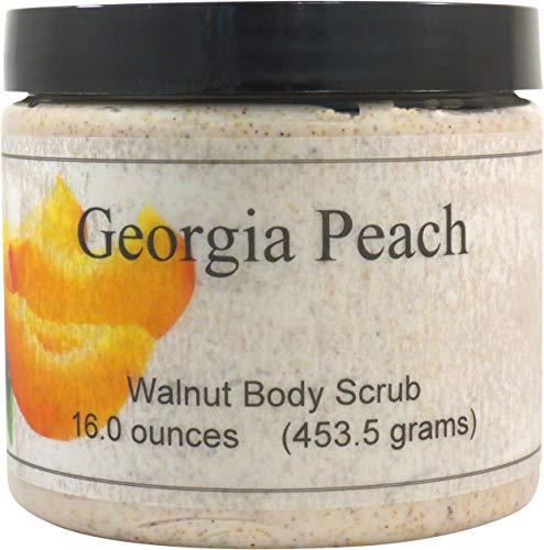 - Georgia Peach Walnut Body Scrub, 16 oz
