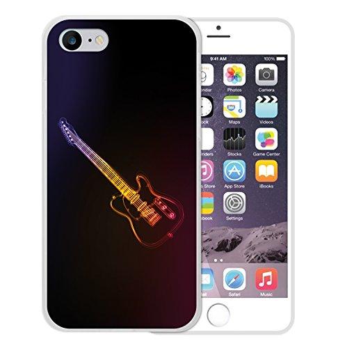 iPhone 8 Hülle, WoowCase Handyhülle Silikon für [ iPhone 8 ] Neon Gitarre Handytasche Handy Cover Case Schutzhülle Flexible TPU - Transparent