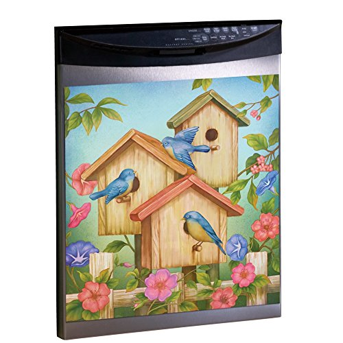 Magnetic Birdhouse Dishwasher Cover Beige