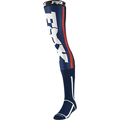 2020 Fox Racing Linc Knee Brace Socks-Navy/Red-M: Automotive