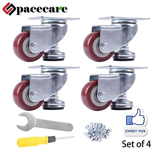 Polyurethane Caster (SPACECARE 4 Pack of 2-1/2