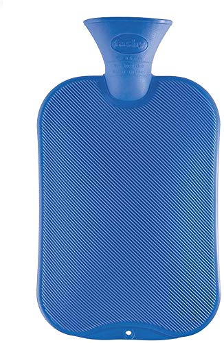 Fashy Hot Water Bottle Classic Assorted Colors - Made in Germany (Transparent Classic Hot Water Bottle Made In Germany)