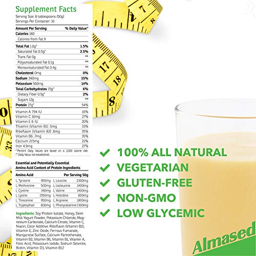 Almased Meal Replacement Shake (6 Pack) with Bonus Bamboo Spoon - 17.6 oz Powder - High Protein Weight Loss Drink, Fat Metabolism Booster - Vegetarian, Gluten Free - 60 Total Servings by Almased (Image #5)