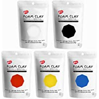 Primary Colors Light Foam Clay, Air Dry, for Preschool Arts & Crafts-1.1 Pound / 5 Colors