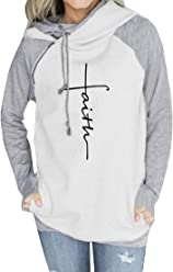 6f6385d83 Waltzmart Women Faith Hooded Zipper Diagonal Collar Double Drawstring Hoodie  Sweatshirt Tops